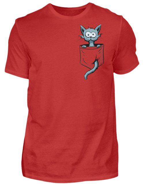 Verrückte Katze in Deiner Brust-Tasche - Herren Shirt-4