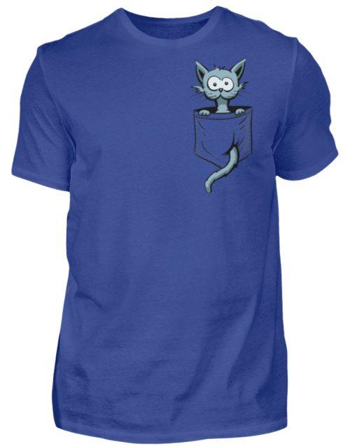 Verrückte Katze in Deiner Brust-Tasche - Herren Shirt-668