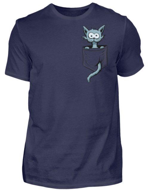 Verrückte Katze in Deiner Brust-Tasche - Herren Shirt-198