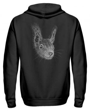 Eichhörnchen Bleistift Illustration - Zip-Hoodie-16