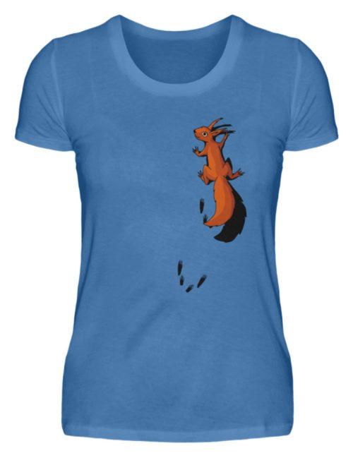 kletterndes Eichhörnchen mit Spuren - Damen Premiumshirt-2894