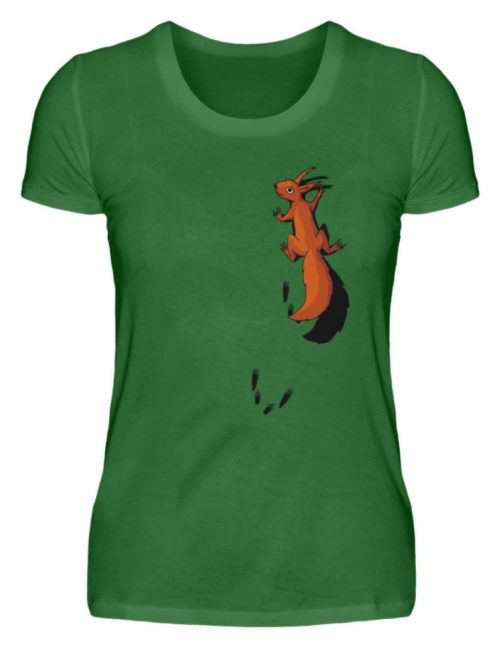 kletterndes Eichhörnchen mit Spuren - Damen Premiumshirt-30