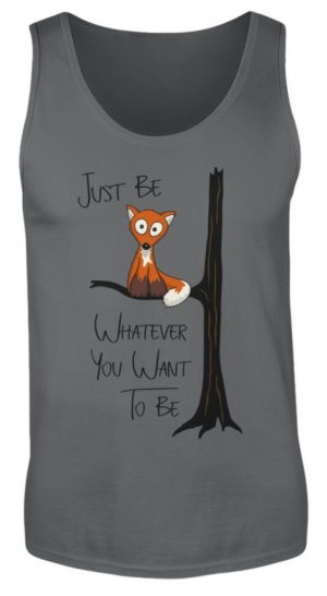 Just Be Whatever | Fuchs wie Eule - Herren Tanktop-70