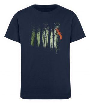 Eichhörnchen im Zwielicht-Wald - Kinder Organic T-Shirt-6887