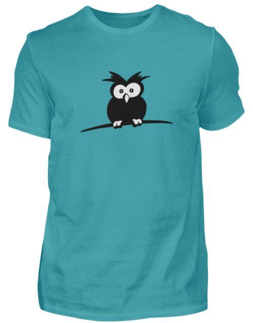 struppige Eule - das Shirt ist ein Muß für alle aufgeweckten Eulen-Fans - Herren Shirt-1242