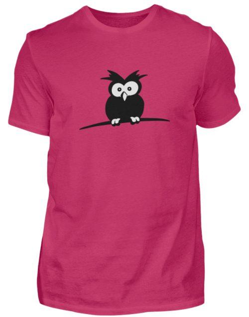 struppige Eule - das Shirt ist ein Muß für alle aufgeweckten Eulen-Fans - Herren Shirt-1216