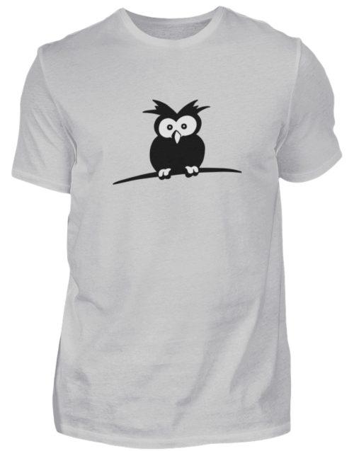 struppige Eule - das Shirt ist ein Muß für alle aufgeweckten Eulen-Fans - Herren Shirt-1157