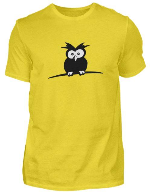 struppige Eule - das Shirt ist ein Muß für alle aufgeweckten Eulen-Fans - Herren Shirt-1102