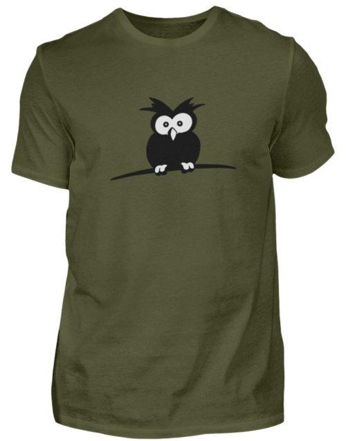 struppige Eule - das Shirt ist ein Muß für alle aufgeweckten Eulen-Fans - Herren Shirt-1109