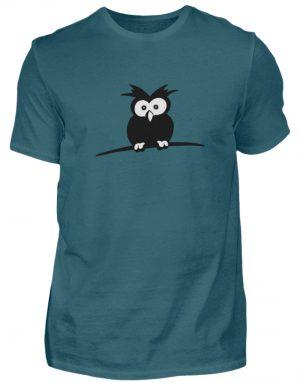 struppige Eule - das Shirt ist ein Muß für alle aufgeweckten Eulen-Fans - Herren Shirt-1096