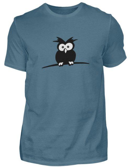 struppige Eule - das Shirt ist ein Muß für alle aufgeweckten Eulen-Fans - Herren Shirt-1230