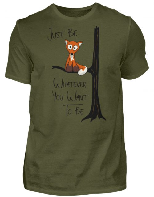 Just Be Whatever | Fuchs wie Eule - Herren Shirt-1109