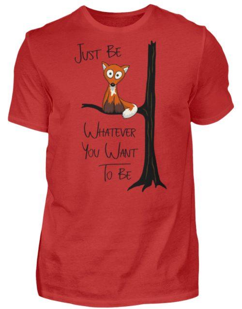 Just Be Whatever | Fuchs wie Eule - Herren Shirt-4