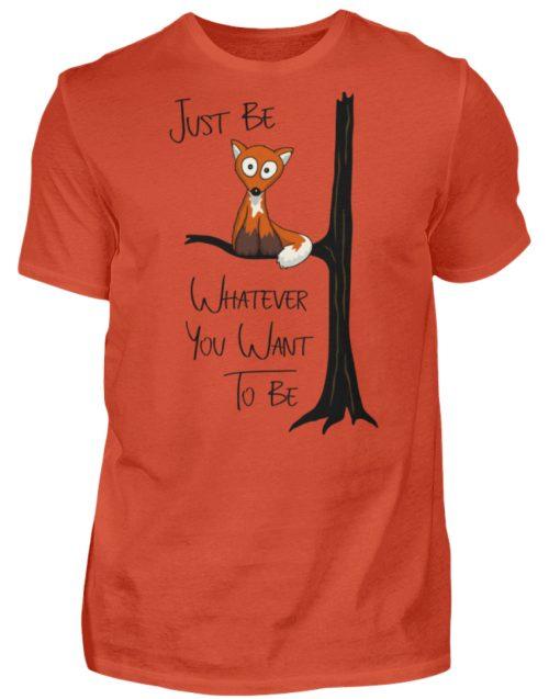 Just Be Whatever | Fuchs wie Eule - Herren Shirt-1236
