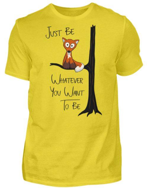 Just Be Whatever | Fuchs wie Eule - Herren Shirt-1102