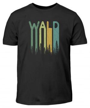 Wald Retro Forst Schriftzug - Kinder T-Shirt-16