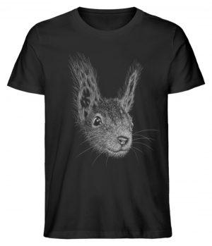 Eichhörnchen Bleistift Illustration - Herren Premium Organic Shirt-16