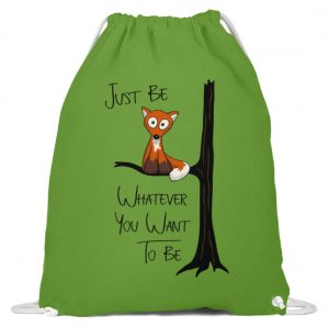 Just Be Whatever | Fuchs wie Eule - Baumwoll Gymsac-1646