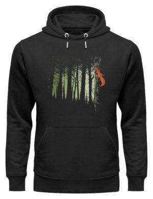 Eichhörnchen im Zwielicht-Wald - Unisex Organic Hoodie-16