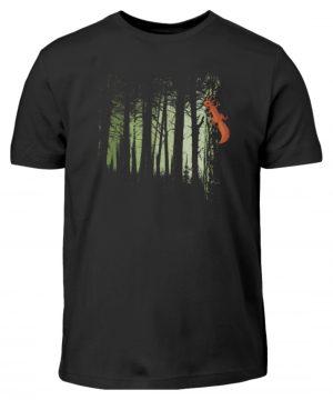 Eichhörnchen im Zwielicht-Wald - Kinder T-Shirt-16