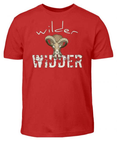 Wilder Widder | Mufflon Cooles Wild-Schaf - Kinder T-Shirt-4