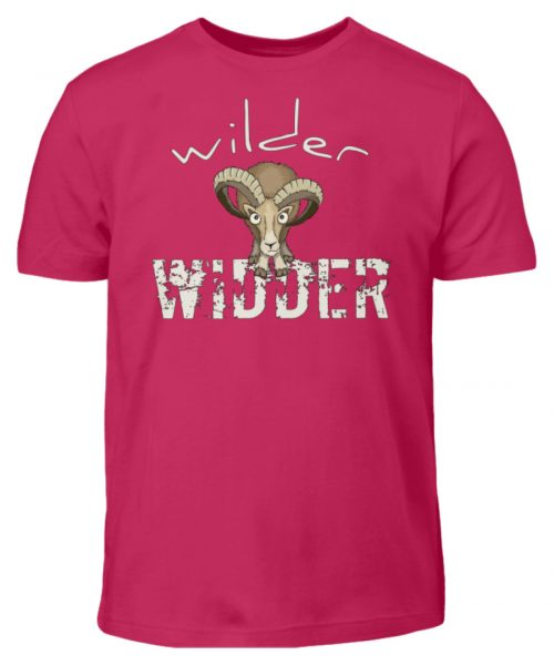 Wilder Widder | Mufflon Cooles Wild-Schaf - Kinder T-Shirt-1216