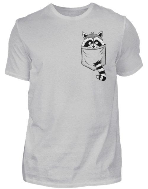 Waschbär in Deiner Brust-Tasche - Herren Shirt-1157