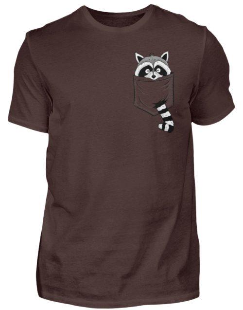 Waschbär in Deiner Brust-Tasche - Herren Shirt-1074