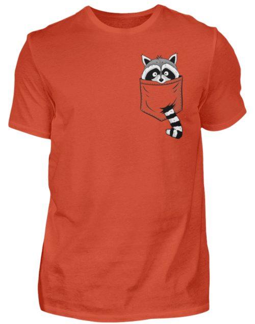 Waschbär in Deiner Brust-Tasche - Herren Shirt-1236