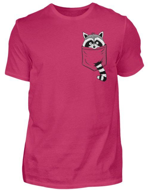Waschbär in Deiner Brust-Tasche - Herren Shirt-1216