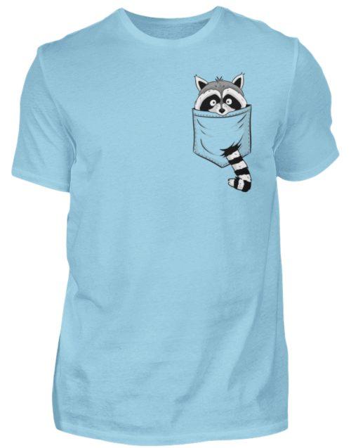 Waschbär in Deiner Brust-Tasche - Herren Shirt-674