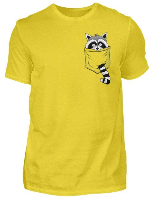 Waschbär in Deiner Brust-Tasche - Herren Shirt-1102