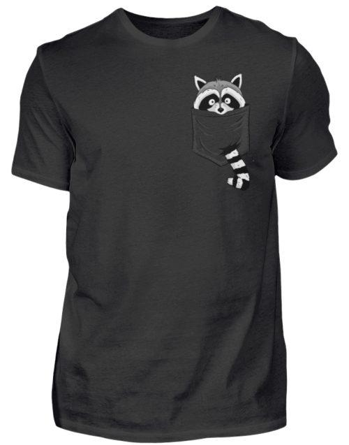Waschbär in Deiner Brust-Tasche - Herren Shirt-16