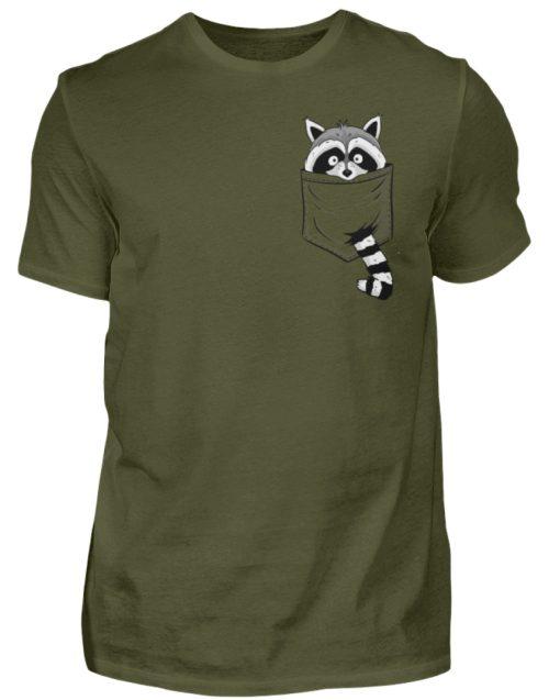 Waschbär in Deiner Brust-Tasche - Herren Shirt-1109