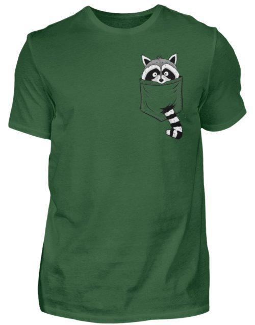 Waschbär in Deiner Brust-Tasche - Herren Shirt-833