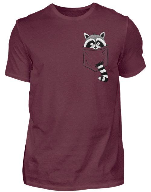 Waschbär in Deiner Brust-Tasche - Herren Shirt-839