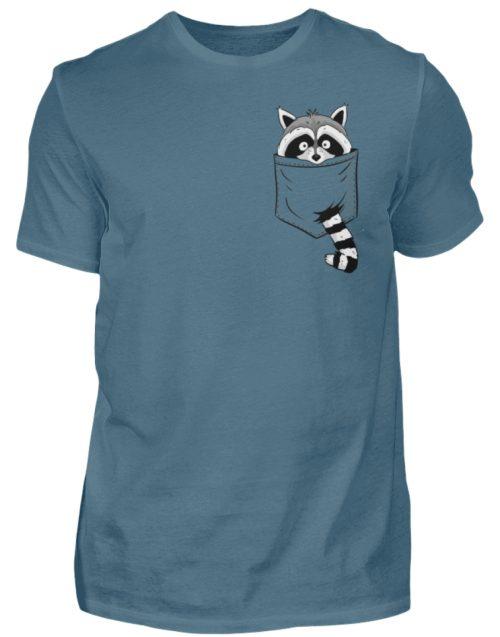 Waschbär in Deiner Brust-Tasche - Herren Shirt-1230