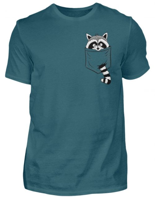 Waschbär in Deiner Brust-Tasche - Herren Shirt-1096