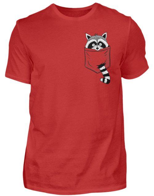 Waschbär in Deiner Brust-Tasche - Herren Shirt-4