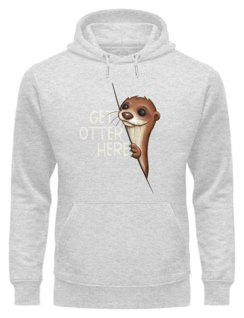 Get Otter Here   Lustiger Otter Kalauer - Unisex Organic Hoodie-6892