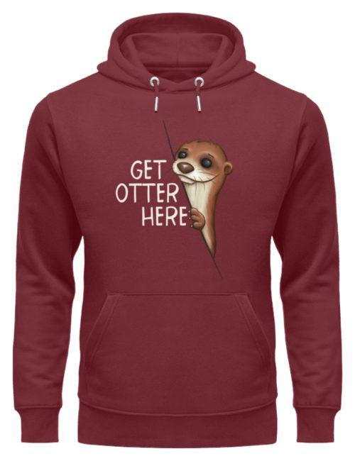 Get Otter Here   Lustiger Otter Kalauer - Unisex Organic Hoodie-6883