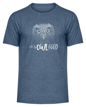 It-s OWL Good | Kritzel-Kunst-Eule - Herren Melange Shirt-6803