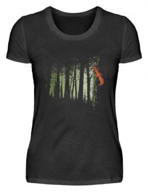 Eichhörnchen im Zwielicht-Wald - Damenshirt-16