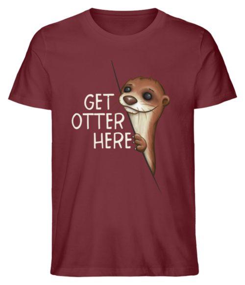 Get Otter Here | Lustiger Otter Kalauer - Herren Premium Organic Shirt-6883