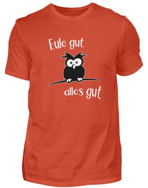 Eule gut, alles gut | witzige Eule - Herren Shirt-1236