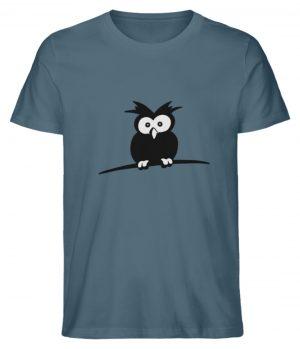 struppige Eule - das Shirt ist ein Muß für alle aufgeweckten Eulen-Fans - Herren Premium Organic Shirt-6895