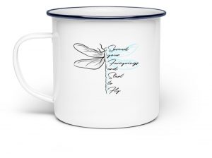 Libellen-Tasse | Spread your fairywings and fly - Emaille Tasse-3
