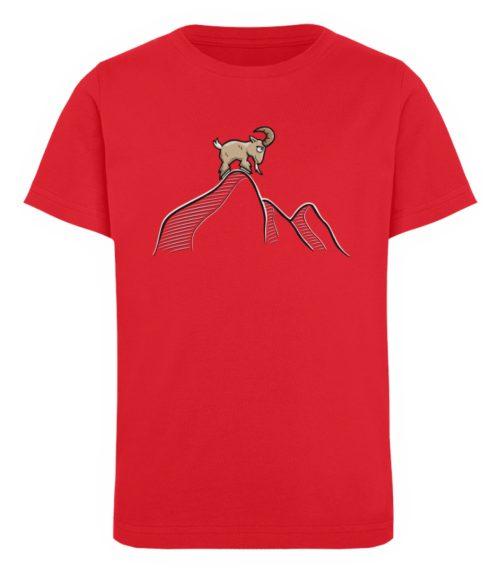Ziegenbock in den Bergen - Kinder Organic T-Shirt-6882