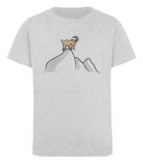 Ziegenbock in den Bergen - Kinder Organic T-Shirt-6892