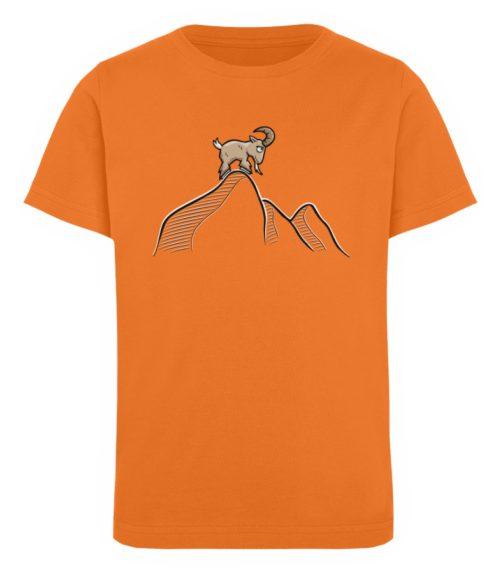 Ziegenbock in den Bergen - Kinder Organic T-Shirt-6902
